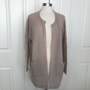 Madewell Mohair Rib Oversized open front Cardigan
